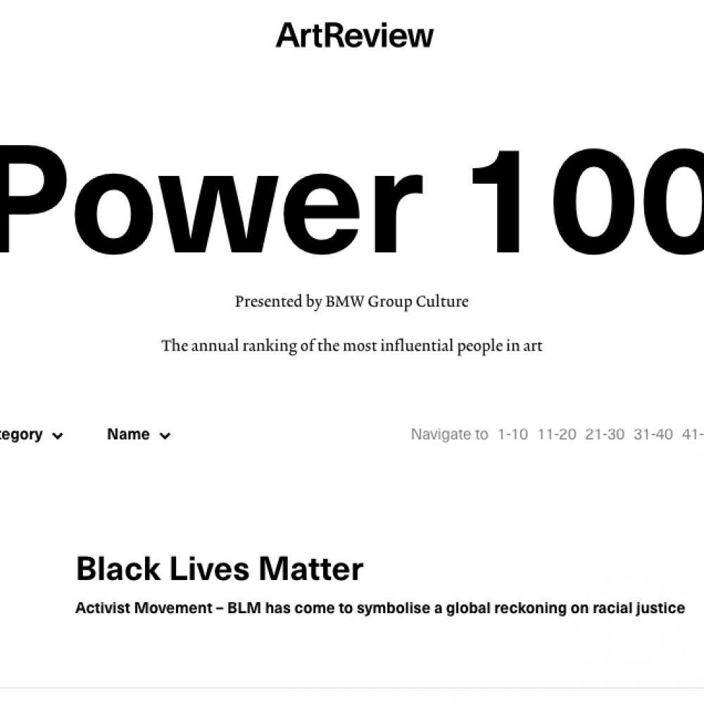 Power100 a sorpresa ma non troppo. Quest'anno i più potenti dell'arte sono i collettivi politici